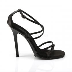 Sandale chic à talon aiguille 11 cm et brides croisées DISCOUNT petit prix taille 37.5