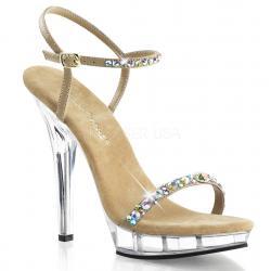 Sandale strass pas chère avec bride cheville et haut talon plexi discount taille 36