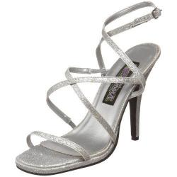 Sandale haut talon à paillette argentée DISCOUNT petit prix taille 40