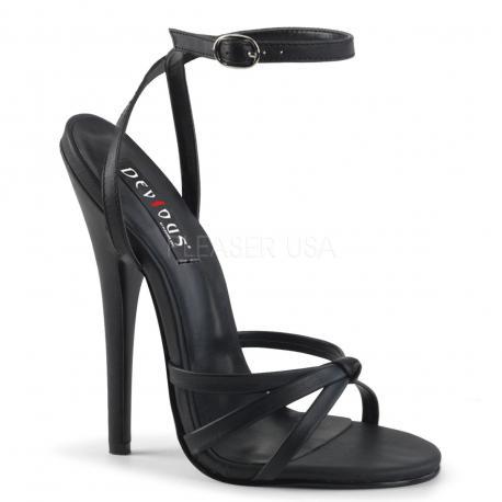Sandale sexy haut talon noire DISCOUNT pas cher taille 37