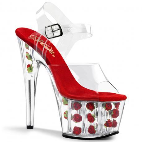 Sandale ADORE-708FL Fleurs Rouge