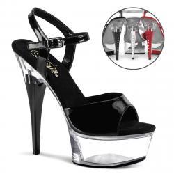 Sandale & plateforme à talon strass de 15 cm   Pole dance