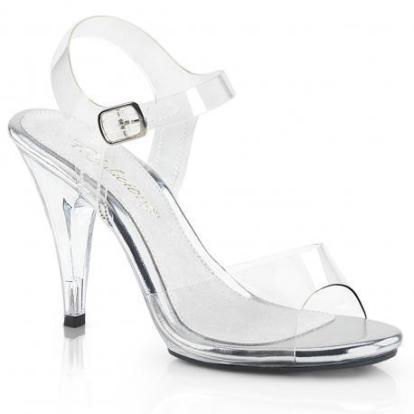 Sandale transparente à talon plexi 10 cm