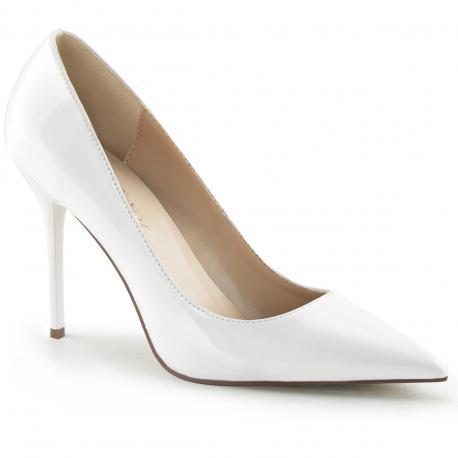 Escarpin classique-20 Blanc