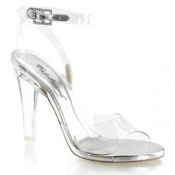 Sandale à talon transparente avec strass Pleaser soirée