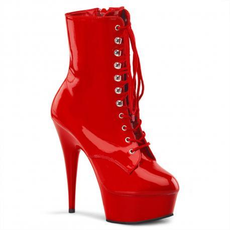 Chaussure pole dance rouge vernis à plateforme grande taille du 36 au 44