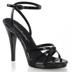 Sandale plateforme à lanières noire à talon haut grande taille du 35 au 46