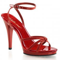 Sandale talon haut rouge à petit plateau de la taille 35 à la grande taille 46