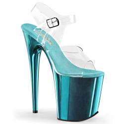 Chaussure pole dance bleue turquoise | FLAM808/C/TECH