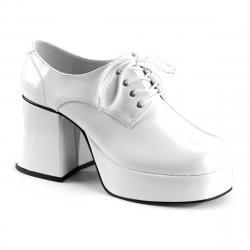 Chaussure homme plateforme blanc brillant JAZZ-02