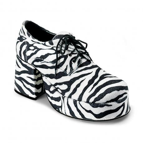 Chaussure homme plateforme zébré JAZZ-02