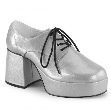 Chaussure homme plateforme argent JAZZ-02G