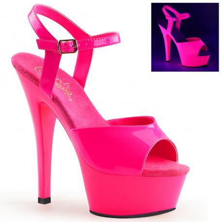 Sandale plateforme Rose fluorescente KISS-209UV