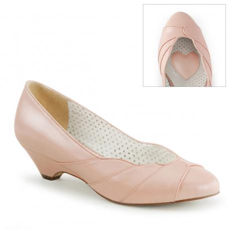 """Chaussure pin up escarpin rose glamour petit talon """" kitten heel """" vintage - vegan"""
