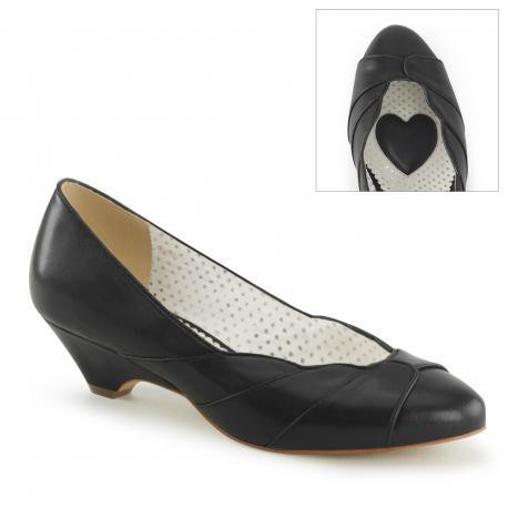 Escarpin vintage noir à petit talon