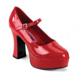 Escarpin plateforme rouge brillant MARYJANE-50