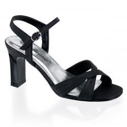 Sandale noire à talon carré petite et grande pointure du 34 au 46