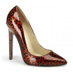 Escarpin rouge leopard SEXY-25