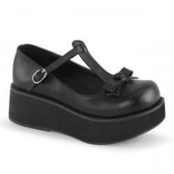 Chaussure compensée noire mat SPRITE-03