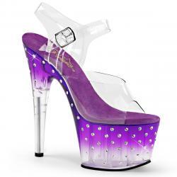 Sandale plateforme à strass violet STARDUST-708T