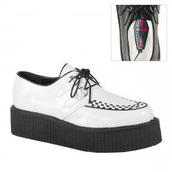 Creepers Demonia blanches à lacets