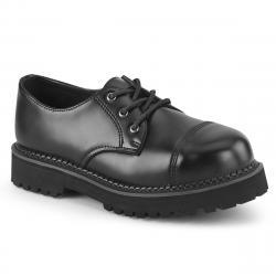 Chaussure gothique cuir à coque métal Demonia