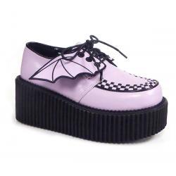 """Creepers gothique rose """" Bat Wings / chauve-souris """""""