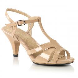 Sandale talon moyen 7 cm nude petite et grande taille du 34 3/4 au 46