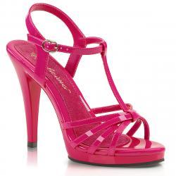 Sandale plateforme rose fuchsia à lanières petite et grande taille