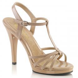 Sandale plateforme beige à lanières petite et grande taille