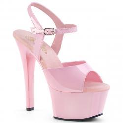 Sandale plateforme rose talon 15 cm