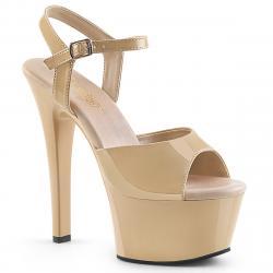 Sandale plateforme Crème talon 15 cm