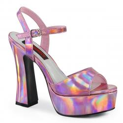 Sandale plateforme rose style années 70 petite et grande taille