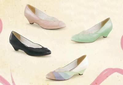 Chaussure pin up escarpin vert pastel glamour petit talon