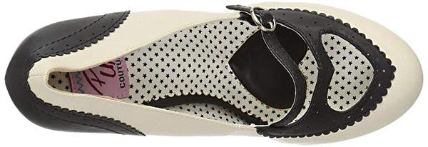 chaussure vintage année 50 à talon pour femme