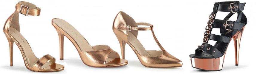chaussure rose gold à talon