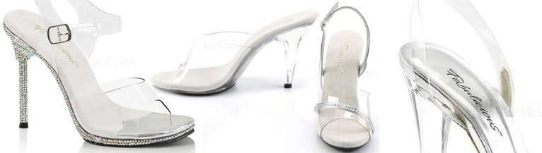 chaussure transparente pour concours et compétition fitness et bodybuilding femme