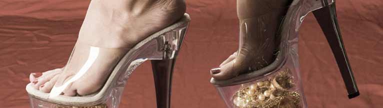 Chaussure transparente talon