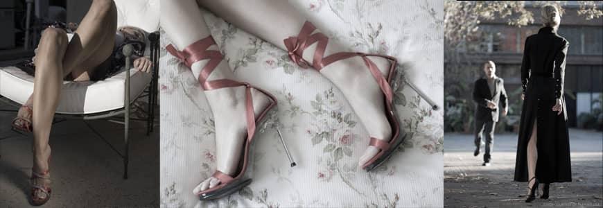 sandale haut talon sexy