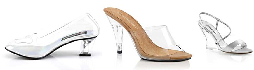 talon transparent en plexi pour chaussure sexy