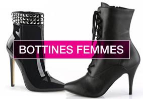 BOTTINES FEMME SEXY avec ou sans plateforme petite et grande pointure du 35 au 44 voire 46 !