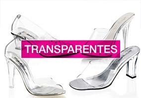 Chaussure transparente à talon