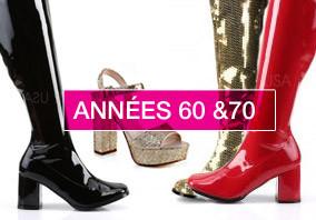 chaussure années 60 et années 70 - sixties et seventies